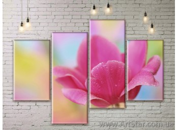 Модульные Картины Цветы, Art. FLWM0175