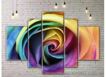 Модульные Картины Цветы, Art. FLWM0181