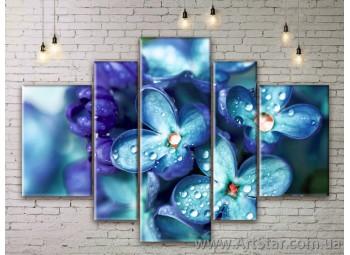 Модульные Картины Цветы, Art. FLWM0189