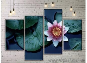 Модульные Картины Цветы, Art. FLWM0199