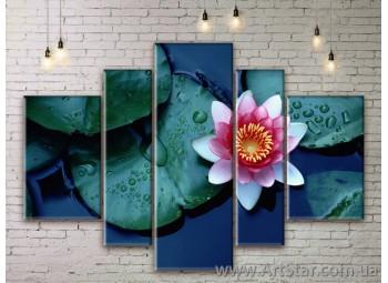 Модульные Картины Цветы, Art. FLWM0201
