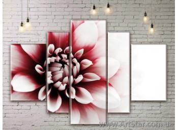 Модульные Картины Цветы, Art. FLWM0213