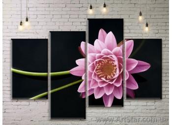 Модульные Картины Цветы, Art. FLWM0217