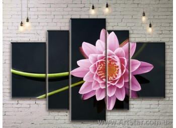 Модульные Картины Цветы, Art. FLWM0219