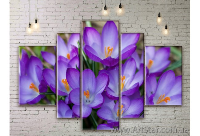 Модульные Картины Цветы, Art. FLWM0237