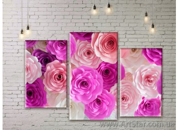 Модульные Картины Цветы, Art. FLWM0263