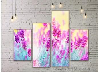 Модульные Картины Цветы, Art. FLWM0267