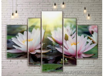 Модульные Картины Цветы, Art. FLWM0273