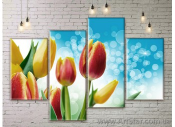 Модульные Картины Цветы, Art. FLWM0283