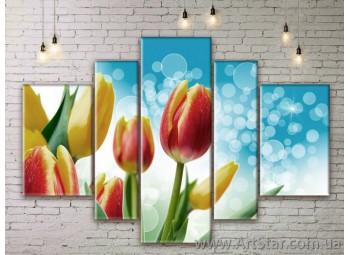Модульные Картины Цветы, Art. FLWM0285