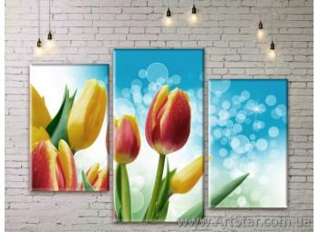 Модульные Картины Цветы, Art. FLWM0287