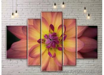 Модульные Картины Цветы, Art. FLWM0291