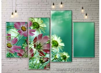 Модульные Картины Цветы, Art. FLWM0331