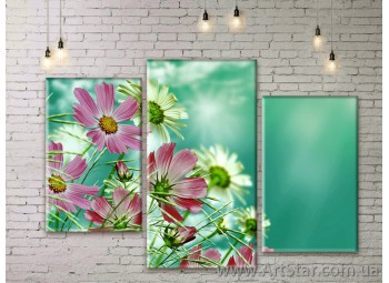 Модульные Картины Цветы, Art. FLWM0335