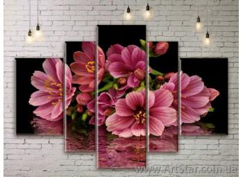 Модульные Картины Цветы, Art. FLWM0339