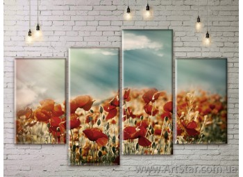 Модульные Картины Цветы, Art. FLWM0373