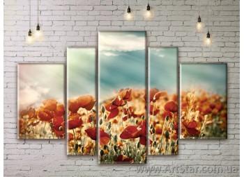 Модульные Картины Цветы, Art. FLWM0375