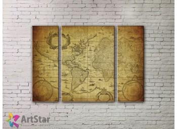 Модульные Картины, древние карты, Art. MPP778000
