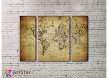 Модульные Картины, древние карты, Art. MPP778002