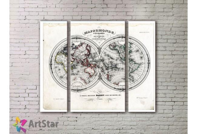 Модульные Картины, древние карты, Art. MPP778006