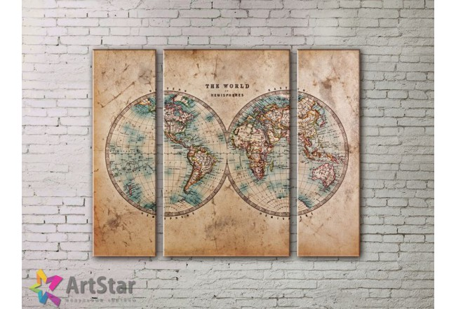 Модульные Картины, древние карты, Art. MPP778012