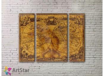 Модульные Картины, древние карты, Art. MPP778030