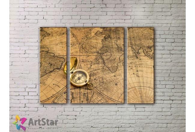 Модульные Картины, древние карты, Art. MPP778034