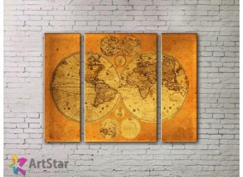 Модульные Картины, древние карты, Art. MPP778036