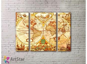 Модульные Картины, древние карты, Art. MPP778040