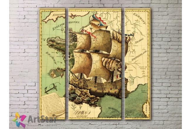 Модульные Картины, древние карты, Art. MPP778048