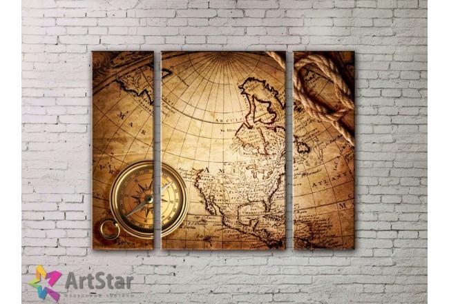 Модульные Картины, древние карты, Art. MPP778056