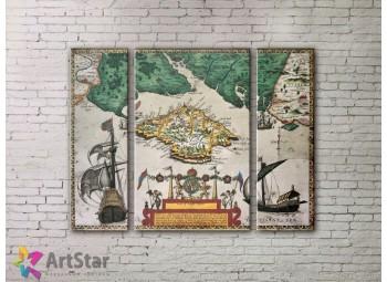 Модульные Картины, древние карты, Art. MPP778060