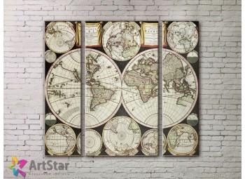 Модульные Картины, древние карты, Art. MPP778064