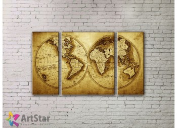 Модульные Картины, древние карты, Art. MPP778066