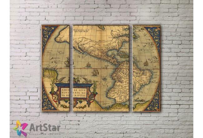 Модульные Картины, древние карты, Art. MPP778070