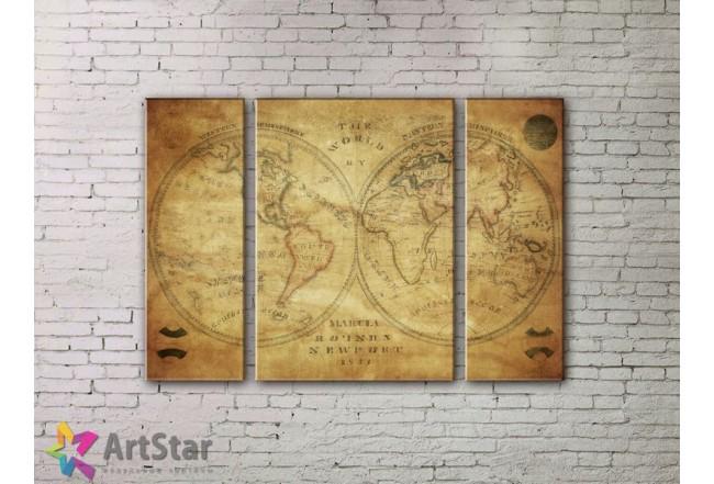 Модульные Картины, древние карты, Art. MPP778072