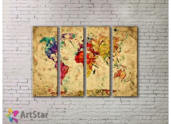 Модульные Картины, старинные карты, Art. MPP778090
