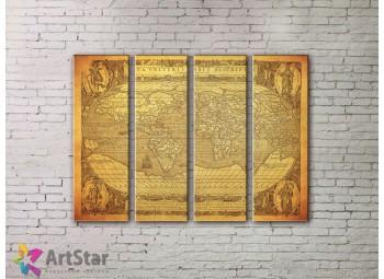 Модульные Картины, старинные карты, Art. MPP778092