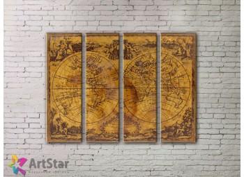 Модульные Картины, старинные карты, Art. MPP778104