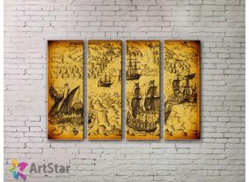 Модульные Картины, старинные карты, Art. MPP778128