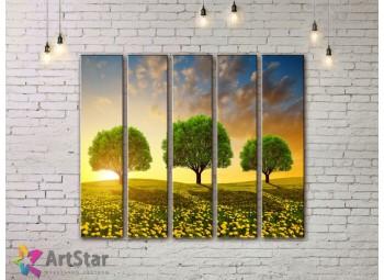 Модульные картины пейзажи, Art. NAA778072
