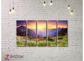 Модульные картины пейзажи, Art. NAA778082
