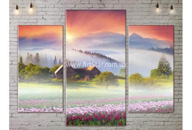 Модульные картины пейзажи, Art. NATA777145