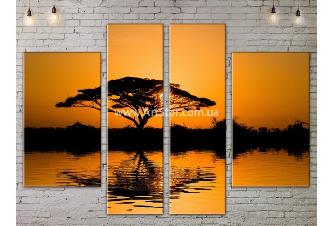Модульные картины пейзажи, Art. NATA777165