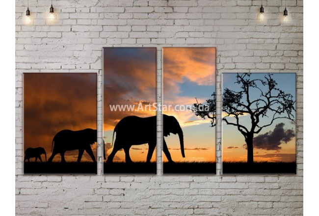 Модульные картины пейзажи, Art. NATA777175