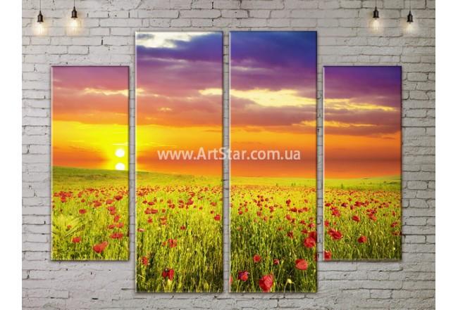 Модульные картины пейзажи, Art. NATA777191