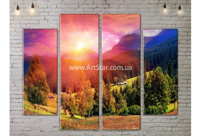Модульные картины пейзажи, Art. NATA777215