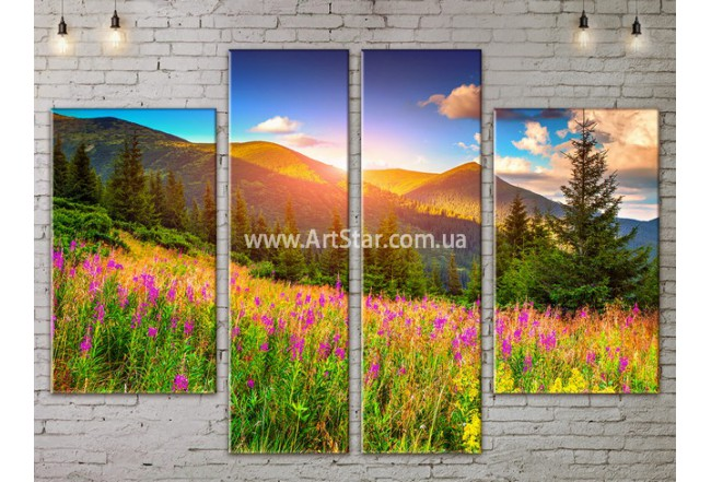 Модульные картины пейзажи, Art. NATA777235