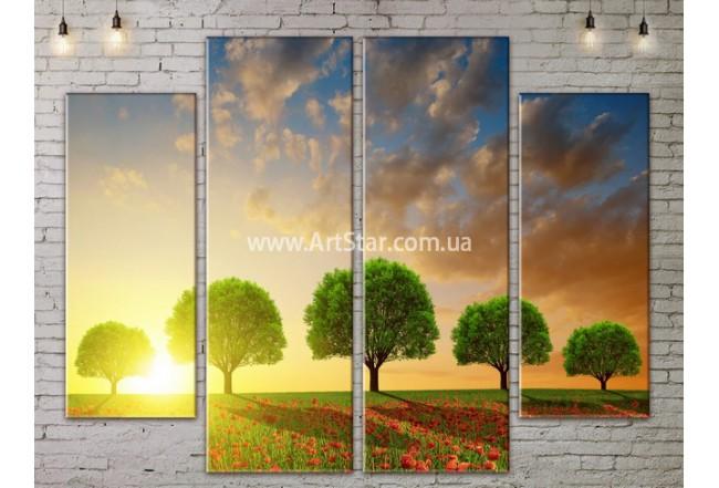 Модульные картины пейзажи, Art. NATA777267