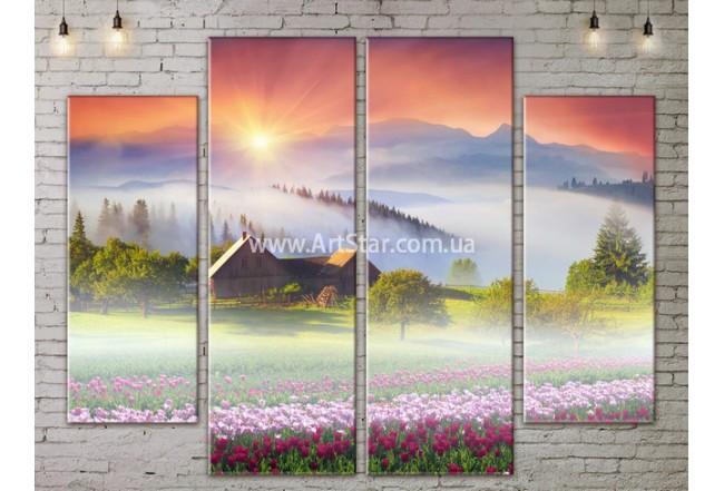 Модульные картины пейзажи, Art. NATA777309